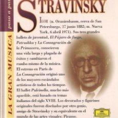 CDs de Música: STRAVINSKY - LA GRAN MÚSICA PASO A PASO - CD DEUTSCHE GRAMMOPHON/CLUB INTERNACIONAL DEL LIBRO 1995. Lote 181968147