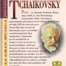 CDs de Música: TCHAIKOVSKY - LA GRAN MÚSICA PASO A PASO - CD DEUTSCHE GRAMMOPHON/CLUB INTERNACIONAL DEL LIBRO 1995. Lote 181968187