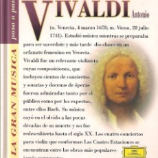 CDs de Música: VIVALDI - LA GRAN MÚSICA PASO A PASO - CD DEUTSCHE GRAMMOPHON/CLUB INTERNACIONAL DEL LIBRO 1995. Lote 142880846