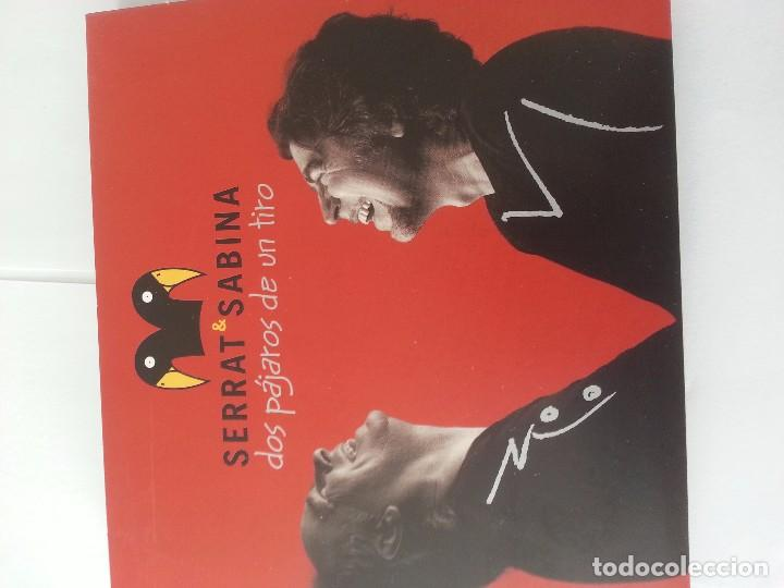 DOS PAJAROS DE UN TIRO ( CD+DVD ) .SERRAT Y SABINA. (Música - CD's Rock)