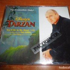 CDs de Música: PHIL COLLINS YOU´LL BE IN MY HEART BANDA SONORA TARZAN CD SINGLE PROMO 1999 ALEMANIA DISNEY GENESIS. Lote 127864866