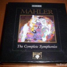 CDs de Música: PACK DE 11 CDS DE MAHLER, THE COMPLETE SYMPHONIES. EDICION BRILLANT CLASSICS.. Lote 105036555