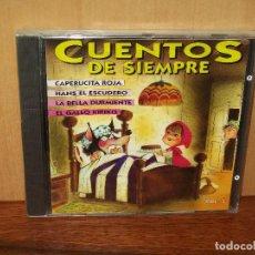 CDs de Música: CUENTOS DE SIEMPRE - CAPERUCITA ROJA, LABELLA DURMIENTE Y OTROS - CD NUEVO PRECINTADO. Lote 105196111
