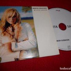 CDs de Música: MARTA SANCHEZ AMOR COBARDE CD SINGLE 2002 PROMO. Lote 105239399