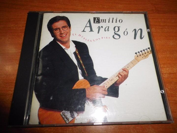 EMILIO ARAGON TE HUELEN LOS PIES CD ALBUM DEL AÑO 1990 CONTIENE 10 TEMAS ÑETE FERNANDO ARBEX CD RARO (Música - CD's Pop)