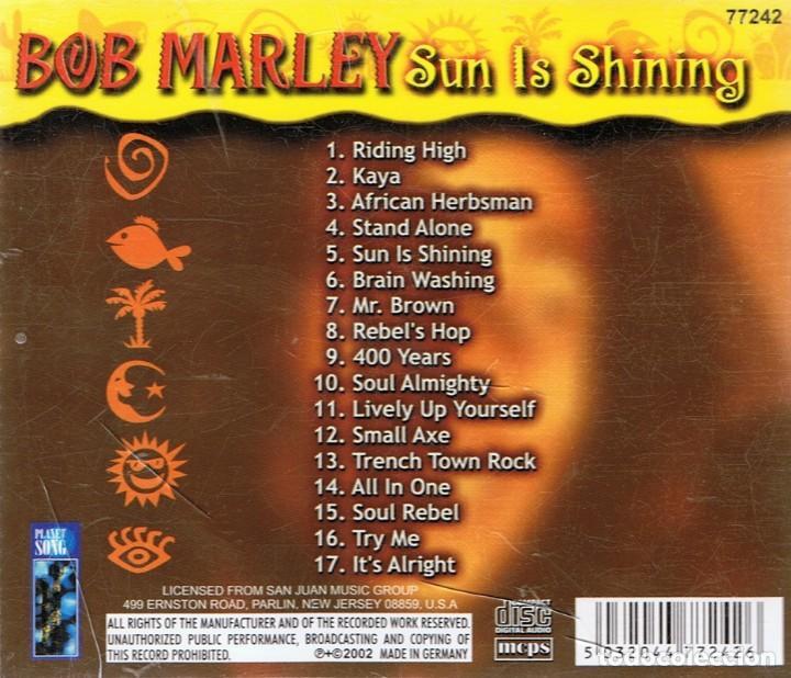 CDs de Música: BOB MARLEY ¨SUN IS SHINING¨ CD 2 - Foto 2 - 105647643