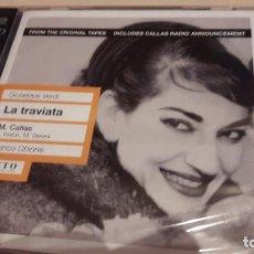CDs de Música: VERDI: LA TRAVIATA. GHIONE. CALLAS. MYTO. 2 CD. PRECINTADO.. Lote 105710731