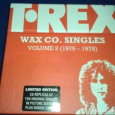 CDs de Música: MARC BOLAN T.REX ( WAX CO. SINGLES ) VOL / 2 ( 1975- 78 ) LIMITED EDITION 2002 BOX 11 CDS + LIBRETO. Lote 105784979