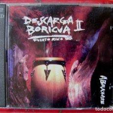 CDs de Música: DESCARGA BORICUA II.ABRAZATE..PUERTO RICO CD DOBLE. Lote 105810259