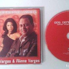 CDs de Música: WILFRIDO VARGAS & ALINNA VARGAS,DOS GENERACIONES CD ALBUM 13 TEMAS 2002. Lote 105811411