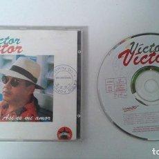 CDs de Música: VICTOR VICTOR / ASI ES MI AMOR (BACHATA) CD 93. Lote 105812179