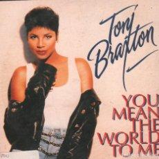 CDs de Música: TONI BRAXTON - YOU MEAN THE WORLD TO ME / CD SINGLE PROMO DE 1994 RF-222. Lote 105888303