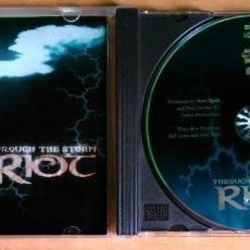 CDs de Música: RIOT - THROUGH THE STORM - 3984-14399-2. Lote 105985995