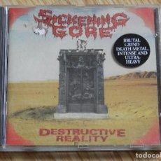 CDs de Música: CD SICKENING GORE DESTRUCTIVE REALITY - MASSACRE RECORDS AÑO 1993 BRUTAL GRIND DEATH METAL. Lote 106005411