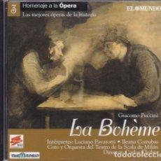CDs de Música: GIACOMO PUCCINI - LA BOHÉME - CARLOS KLEIBER, DIR. - ALFADELTA & EL MUNDO 2000. Lote 235726410