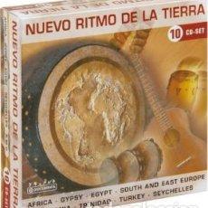 CDs de Música: NUEVO RITMO DE LA TIERRA * BOX SET 10 CD * CAJA PRECINTADA * RARE * SONIDO ESPECTACULAR!. Lote 106107671