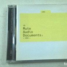 CDs de Música: MUTE AUDIO DOCUMENTS 2-1982 -CD-. Lote 106562107