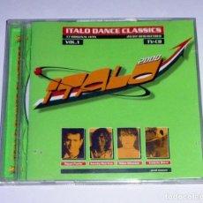 CDs de Música: 2 CD. ITALO 2000. ITALO DANCE CLASSICS. 37 ORIGINAL HITS. VOL. 1. Lote 106571335