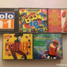 CDs de Música: 5 RECOPILATORIOS 14 CD, VIRTUAL DANCE,EUROBEAT,BOOM 10,SOLO LOS Nº1,EXITOS DISCO, DJ. Lote 106640119