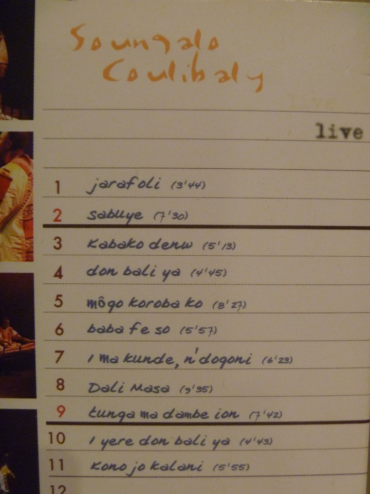 CDs de Música: SOUNGALO COULIBALYARION LIVE PARIS 2004 CD CON GUÍA PERCUSIÓN ÁFRICA - Foto 3 - 106658387