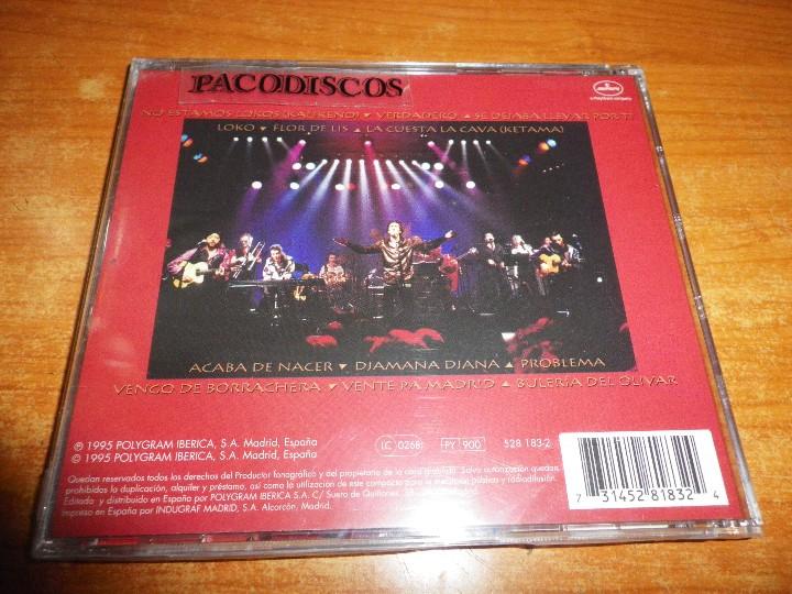CDs de Música: KETAMA De aki a Ketama CD ALBUM PRECINTADO 1995 ANTONIO CARMONA DUOS ANTONIO VEGA y ANTONIO FLORES - Foto 2 - 106794004
