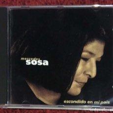 CDs de Música: MERCEDES SOSA (ESCONDIDO EN MI PAÍS) CD 1996 EDICIÓN ARGENTINA. Lote 106930527