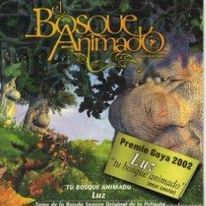 CDs de Música: LUZ-TU BOSQUE ANIMADO-BSO DEL FILM-CD SINGLE DIGIPAK. Lote 106941843