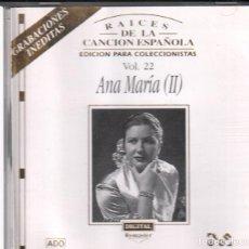 CDs de Música: ANA MARIA (II) VOL. 2 / RAICES DE LA CANCION ESPAÑOLA / CD ALBUM DE 1995 RF-285 , BUEN ESTADO ****. Lote 210777929
