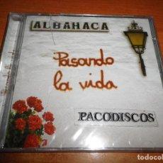 CDs de Música: ALBAHACA PASANDO LA VIDA CD ALBUM PRECINTADO CONTIENE 10 TEMAS. Lote 107027659