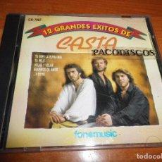 CDs de Música: CASTA 12 GRANDES EXITOS DE CASTA CD ALBUM DEL AÑO CONTIENE 12 TEMAS FLAMENCO POP CD RARO FONOMUSIC. Lote 107030939