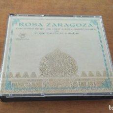 CDs de Música: ROSA ZARAGOZA , CANCIONES DE JUDIOS, CRISTIANOS Y MUSULMANES + EL ESPIRITU DE AL-ANDALUS, DOBLE CD. Lote 107204687