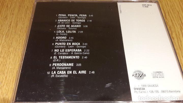 CDs de Música: LOLA FLORES / PENA, PENITA, PENA / CD / DIVUCSA-PERFIL - 1992 / 10 TEMAS / PRECINTADO. - Foto 2 - 107682847