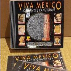 CDs de Música: VIVA MEXICO / 50 GRANDES CANCIONES / PACK - 3 CD 7 DIVUCSA-1991 / TODOS PRECINTADOS. Lote 132575210