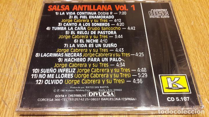 CDs de Música: SALSA / ANTILLANA / VOL. 1 / CD / KUBANEY-DIVUCSA / 12 TEMAS / PRECINTADO - Foto 2 - 107706587