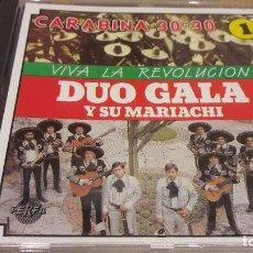 CDs de Música: DÚO GALA Y SU MARIACHI / VIVA LA REVOLUCIÓN / CD / DIVUCSA- 1989 / 14 TEMAS / PRECINTADO.. Lote 107803275