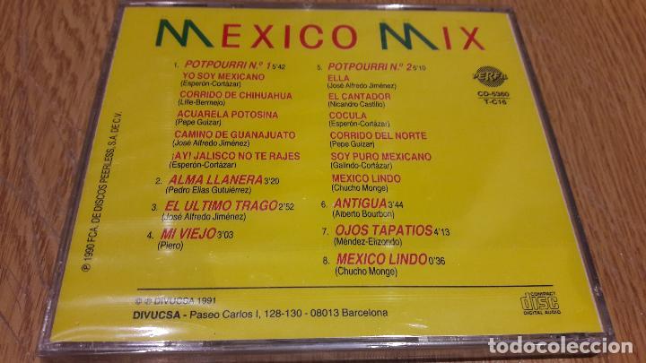 CDs de Música: ERICK Y SU MARIACHI / MEXICO MIX / CD / DIVUCSA - 1991 / 8 TEMAS / PRECINTADO / MUY DIFÍCIL. - Foto 2 - 107831895
