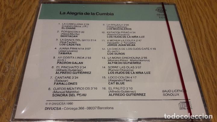 CDs de Música: LA ALEGRÍA DE LA CUMBIA / CD / DIVUCSA - 1990 / 16 TEMAS / PRECINTADO. - Foto 2 - 107832703