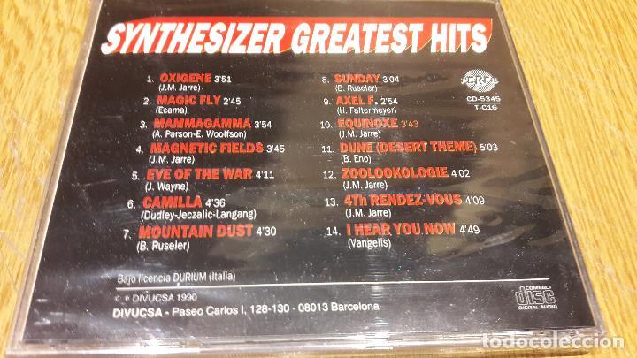 CDs de Música: SYNTHESIZER / GREATEST HITS / CD / DIVUCSA - 1990 / 14 TEMAS / PRECINTADO. - Foto 2 - 107839935
