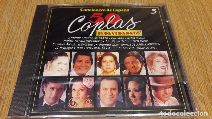 CANCIONERO DE ESPAÑA / 50 COPLAS INOLVIDABLES 3 / CD / DIVUCSA - 1991 / 18 TEMAS / PRECINTADO. (Música - CD's Flamenco, Canción española y Cuplé)