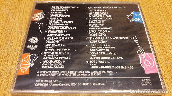 CDs de Música: CANCIONERO DE ESPAÑA / 50 COPLAS INOLVIDABLES 3 / CD / DIVUCSA - 1991 / 18 TEMAS / PRECINTADO. - Foto 2 - 107846731