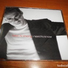CDs de Música: MARC ANTHONY I NEED TO KNOW CD SINGLE 1999 AUSTRIA REMIXES CONTIENE 4 TEMAS. Lote 107974639