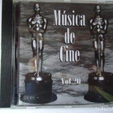 CDs de Música: CD. MÚSICA DE CINE VOLUMEN, 20,- CON 8 TEMAS.. Lote 107991523