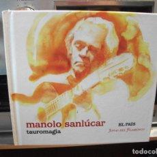 CDs de Música: CD LIBRO MANOLO SANLUCAR : TAUROMAGIA ( EL PAIS, JOYAS DEL FLAMENCO ) PEPETO. Lote 108001323