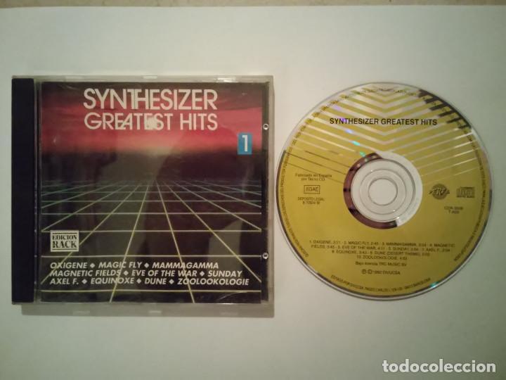 CD ORIGINAL - SYNTHESIZER GREATEST HITS 1 1992 - RELAJANTE - AMBIENTAL - OXIGENE - DUNE (Música - CD's Otros Estilos)