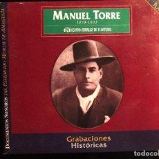 CDs de Música: MANUEL TORRE GRABACIONES HISTÓRICAS 1909-1931 2 CD. Lote 108332391