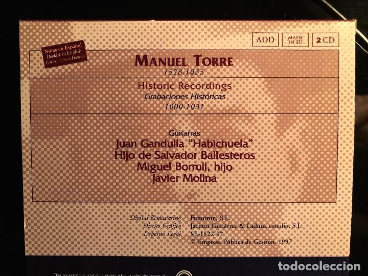 CDs de Música: Manuel Torre Grabaciones históricas 1909-1931 2 cd - Foto 2 - 108332391