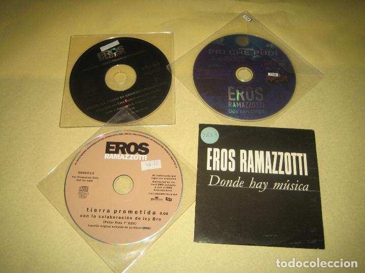 EROS RAMAZZOTTI - LOTE DE 4 CDS PROMO (Música - CD's Otros Estilos)