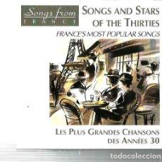 CDs de Música: CD FRANCE POPULAR SONGS ANNES 30 ( CHARLES TRENET, MAURICE CHEVALIER, JEAN SABLON, YVETTE GUILVERT. Lote 108443255