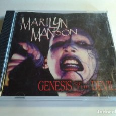 CDs de Música: MARILYN MANSON, GENESIS OF THE DEVIL, CHURCH OF THE PERVERTED 2001, INGLATERRA. Lote 108519595