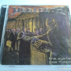 CDs de Música: MEGADETH, THE SYSTEM HAS FAILED , SUM RECORDS, SÂO PAULO 2004. Lote 108544655
